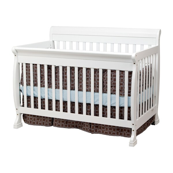 Cadence White 4-in-1 Convertible Crib with Toddler Rail