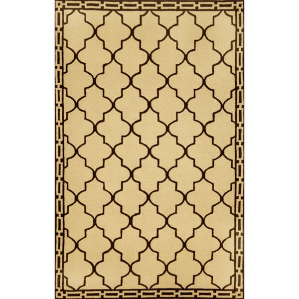 """Hand-Hooked Clay Tiles Rug (3'5"""" x 5'5"""")"""