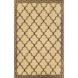 "Hand-Hooked Clay Tiles Rug (3'5"" x 5'5"")"