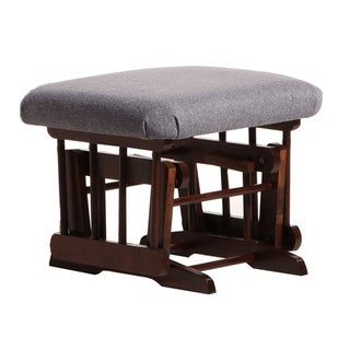 Dutailier Coffee/ Dark Grey Gliding Ottoman for Sleigh and 2-Post Gliders