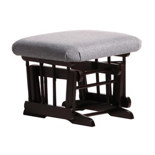 Dutailier Espresso / Dark Grey Gliding Ottoman for Sleigh and 2-Post Gliders