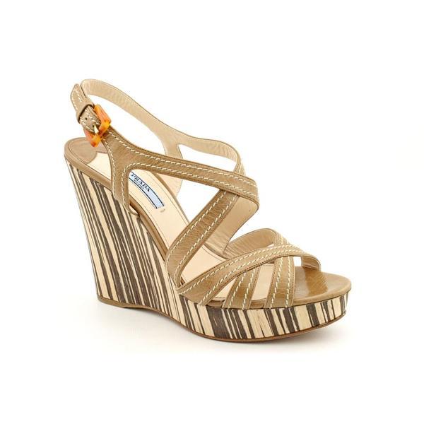 Prada Women's '1XZ226' Leather Sandals