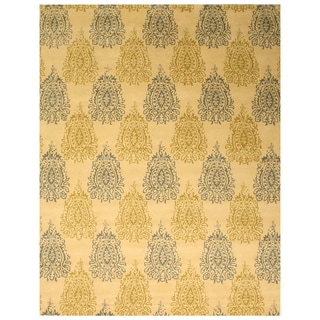 Hand-tufted Wool Ivory Transitional Abstract Royal Paisley Rug (5' x 8')