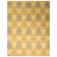 Hand-tufted Wool Ivory Transitional Floral Royal Paisley Rug (7'9 x 9'9)