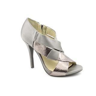 Michael Kors Women's 'Elena Peep' Basic Textile Dress Shoes