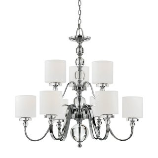 Quoizel Downtown Two Tier 9-Light Chandelier