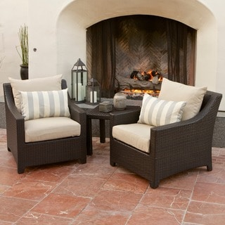 RST Brands Slate Club Chair and Side Table Patio Furniture Set