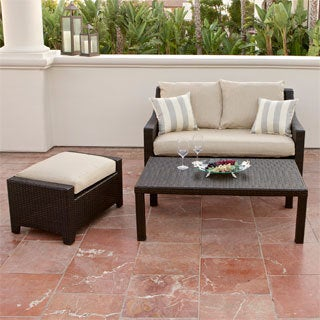 RST Brands Slate Loveseat and Ottoman Patio Set