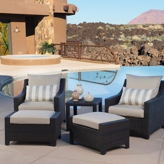 RST Brands Slate 5-piece Club Chairs and Ottomans Patio Set