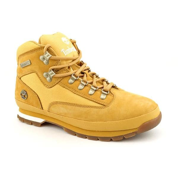 Shop Timberland Men's 'Euro Hiker Leather and Fabric' Nubuck