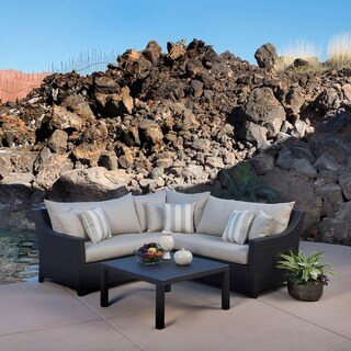 RST Brands Slate 4-piece Corner Sectional Sofa and Coffee Table Outdoor Patio Set