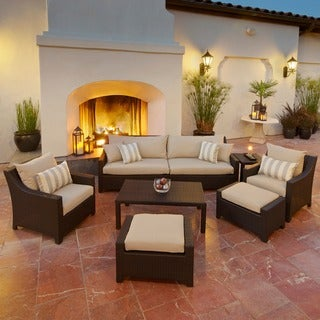 RST Brands Slate 8-piece Sofa, Club Chair and Ottoman Outdoor Patio Set