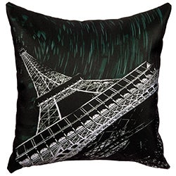 Maxwell Dickson Starry Night Paris Throw Pillow