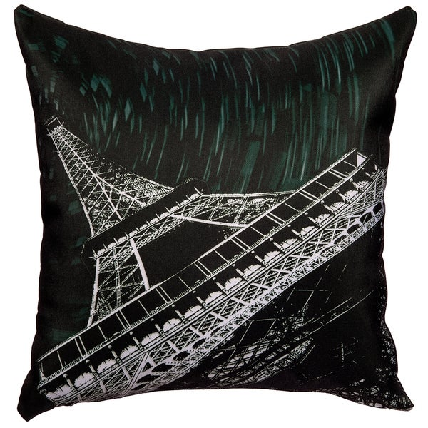 Maxwell Dickson Starry Night Paris Throw Pillow