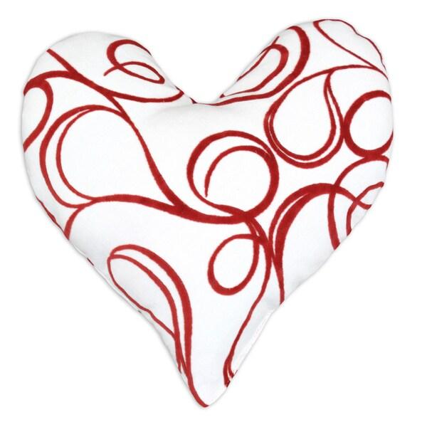 Joker Scarlet Heart Shaped Pillow