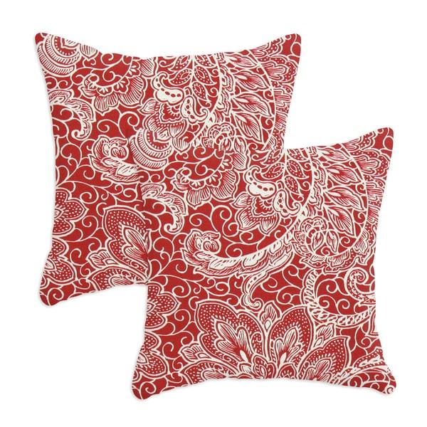 Mardi Gras Berry 17X17-inch pillows (Set of 2)