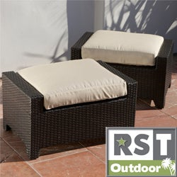 RST Brands Slate Club Ottoman Patio Furniture (Pack of 2)