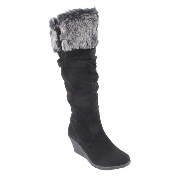 Liliana by Beston Women's 'Treviso' Knee-High Inside-Zip Boots