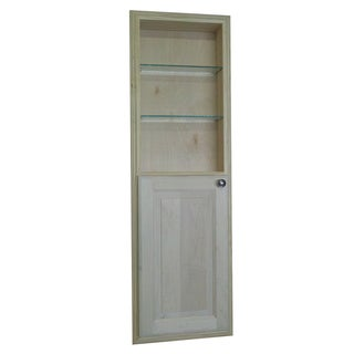 48-inch Recessed in the Wall Baldwin Medicine Storage Cabinet with 24-inch Open Shelf - Natural