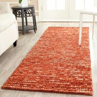 Safavieh Hand-knotted Vegetable Dye Chunky Rust Hemp Rug - 2'6 x 8'