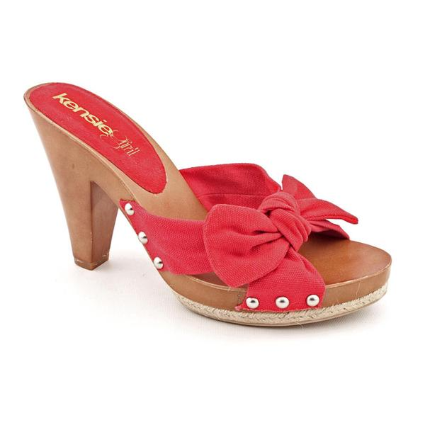 Kensie Girl Women's 'Jett' Canvas Sandals (Size 9)