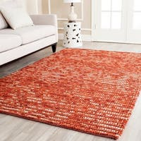 Safavieh Hand-knotted Vegetable Dye Chunky Rust Hemp Rug - 5' x 8'