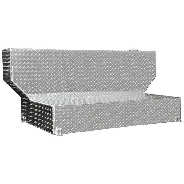TALLST100 Silver 100-Gallon Diamond Plated L-Shaped Liquid Storage Tank