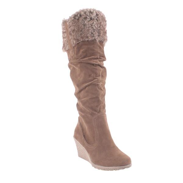Liliana by Beston Women's 'Treviso' Knee-high Boots