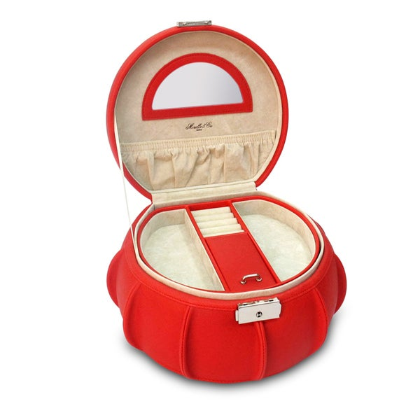 Morelle Red Allison Leather Jewelry Box