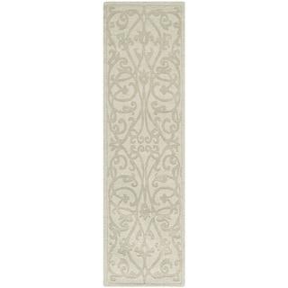 Safavieh Handmade Irongate Scrolls Sage New Zealand Wool Rug (2' 3 x 12')