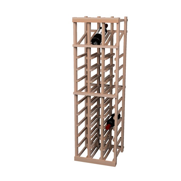 Vintner Series Unstained 36-bottle Wine Rack with Display Row