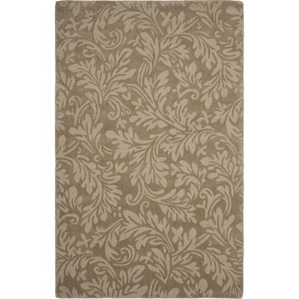 Safavieh Handmade Fern Scrolls Brown New Zealand Wool Rug (6' x 9')