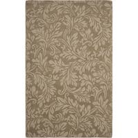 Safavieh Handmade Fern Scrolls Brown New Zealand Wool Rug - 6' x 9'