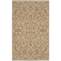 Safavieh Handmade Irongate Scrolls Light Brown New Zealand Wool Rug - 8'3 x 11'
