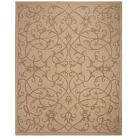 "Safavieh Handmade Irongate Scrolls Light Brown New Zealand Wool Rug - 8'3"" x 11'"