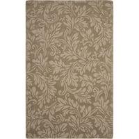 Safavieh Handmade Fern Scrolls Brown New Zealand Wool Rug (7' 6 x 9' 6 )
