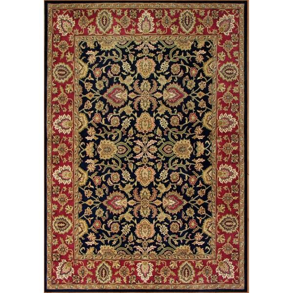 Alliyah Black Persian Pattern New Zealand Wool Rug (10 x 14)