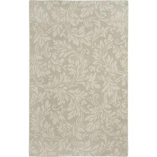 Safavieh Handmade Fern Scrolls Sage New Zealand Wool Rug (6' x 9')