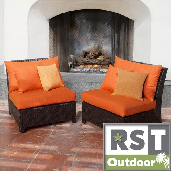 Rst Outdoor Tikka Patio Furniture Armless Chairs Set Of 2 Free Shipping Today Overstock