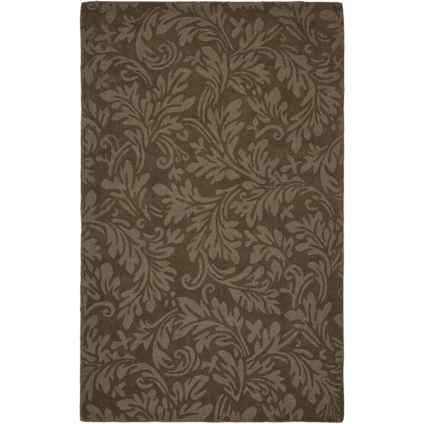 Safavieh Handmade Fern Scrolls Light Brown New Zealand Wool Rug (6' x 9')