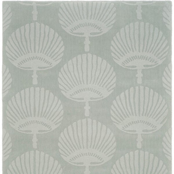 Safavieh Handmade Sea Shells Grey New Zealand Wool Rug (6' x 6' Square)