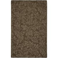 Safavieh Handmade Fern Scrolls Light Brown New Zealand Wool Rug - 7'6 x 9'6