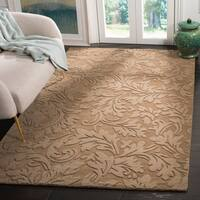 "Safavieh Handmade Fern Scrolls Light Brown New Zealand Wool Rug - 7'6"" x 9'6"""
