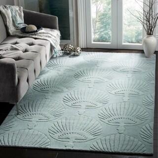 Safavieh Handmade Sea Shells Grey New Zealand Wool Rug (7' 6 x 9' 6 )