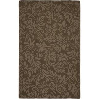 Safavieh Handmade Fern Scrolls Light Brown New Zealand Wool Rug (8'3 x 11')