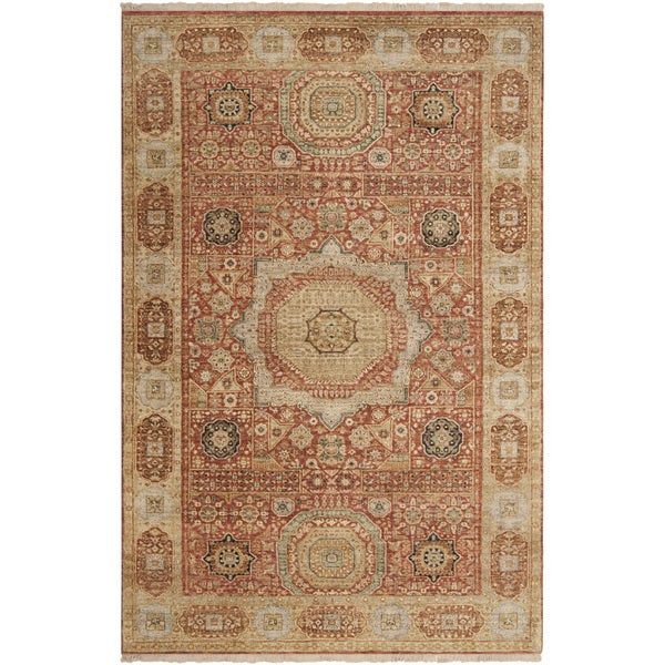 Hand-knotted Larache Cinnamon New Zealand Wool Rug (8'6 x 11'6)