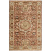 Hand-knotted Larache Cinnamon New Zealand Wool Area Rug (8'6 x 11'6) - 8'6 x 11'6