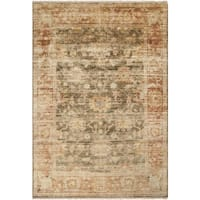Hand-knotted Pownal Brown Wool Area Rug - 5'6 x 8'6