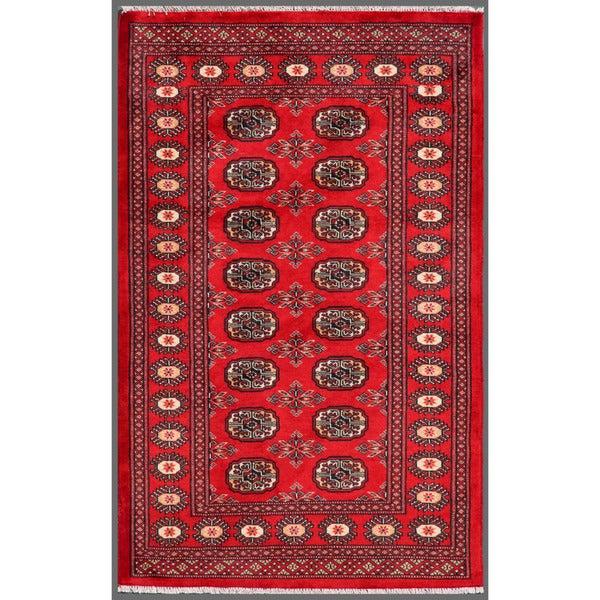 Handmade Bokhara Wool Rug (Pakistan) - 3'2 x 5'