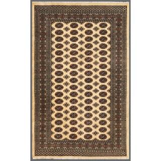 Herat Oriental Pakistani Hand-knotted Bokhara Wool Rug - 5'1 x 8'
